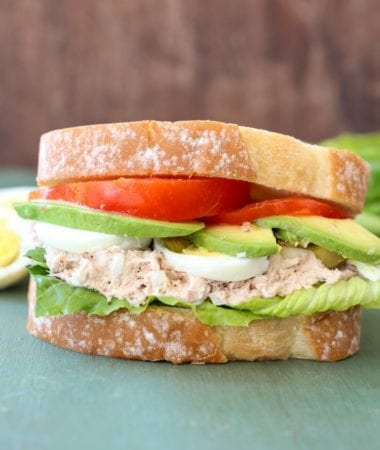 Tuna Avocado and Egg Sandwich