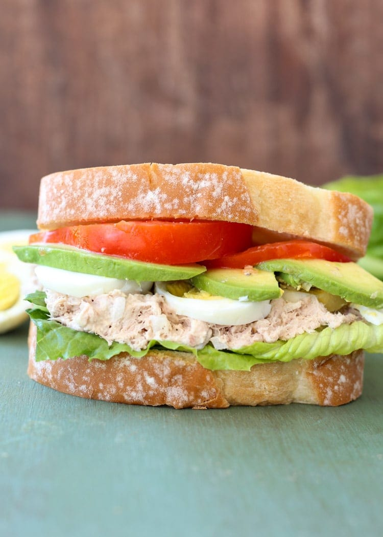 Egg Avocado Tuna Sandwich ~ Easy, Delicious Sandwich Perfect for a Quick Lunch Recipe! This Egg Tuna Sandwich Adds Avocado into the Mix for a Delicious Lunch!