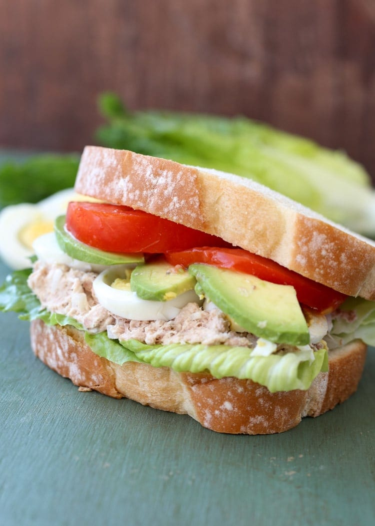 Everyone will love this Tuna Avocado and Egg Sandwich!