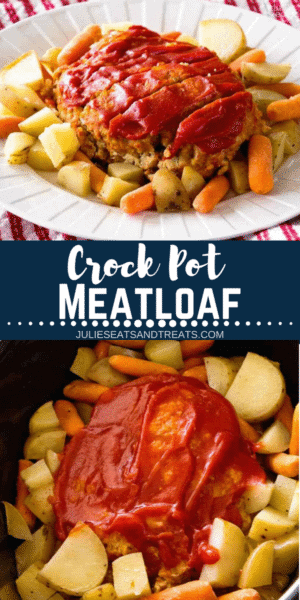 Crockpot meatloaf pinterest image