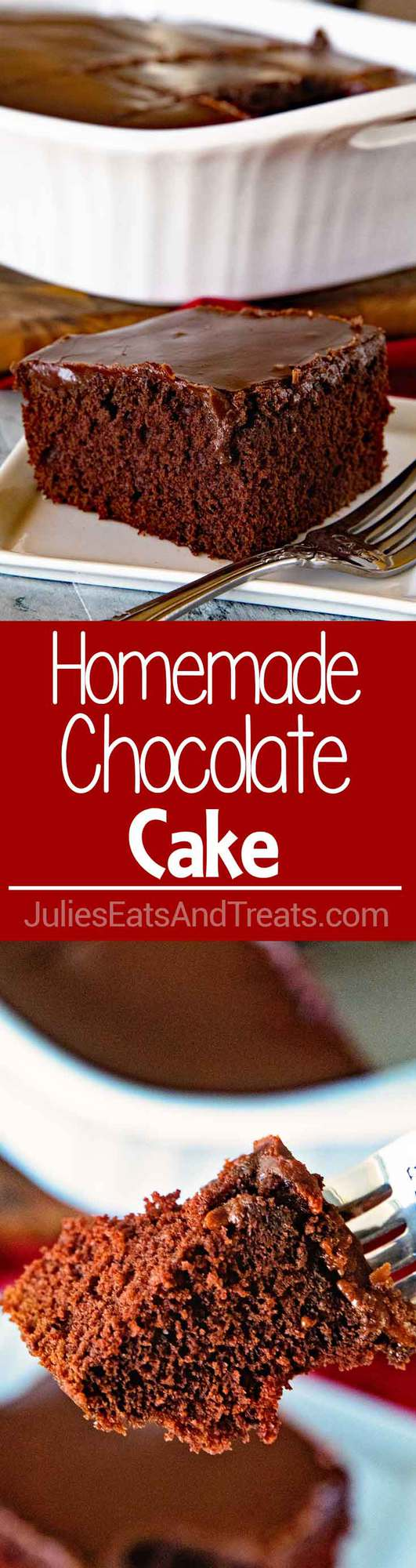 Chocolate Cake with Homemade Chocolate Frosting!