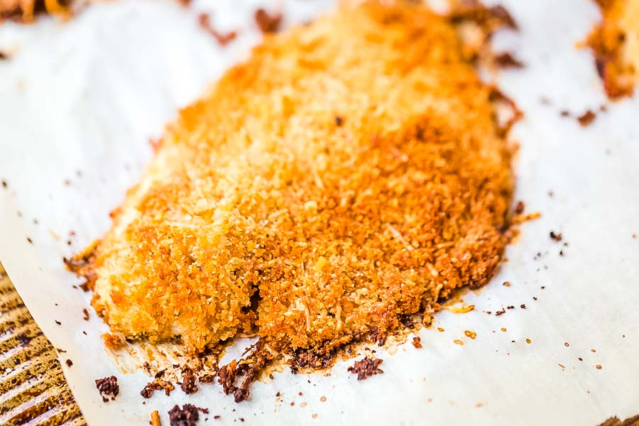 Parmesan Crusted Tilapia on wax paper