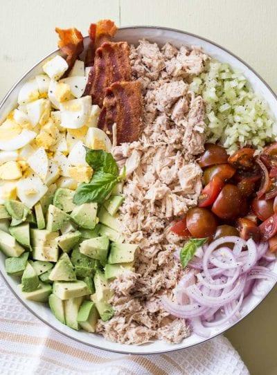 Chicken Avocado Egg Bacon Salad Recipe