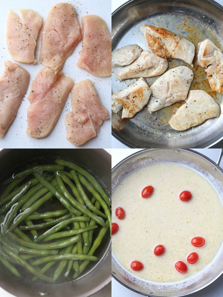How to make Chicken and Green Beans in Skillet