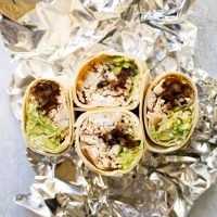 Chipotle Black Bean Chicken Burritos