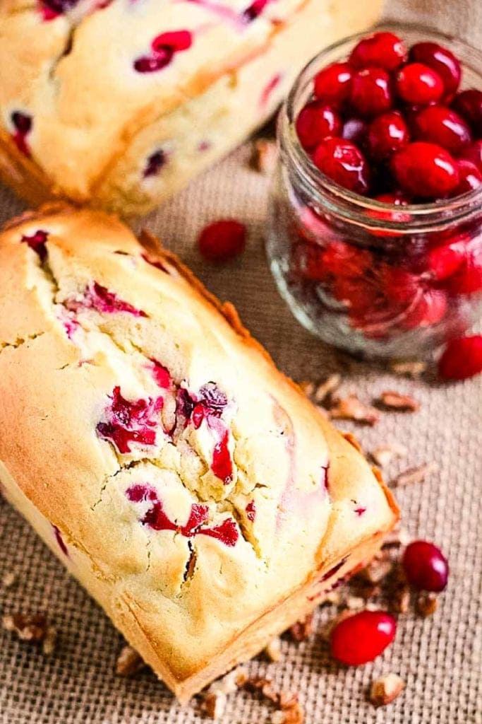 Cream Cheese Cranberry Bread Loaf