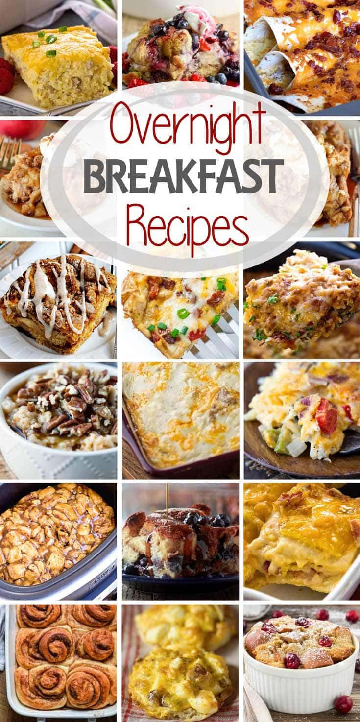 Holiday Overnight Breakfast Recipes ~ If You Are Hosting Company for Breakfast This is the List of Recipes You Want for Breakfast! Everything from Overnight Breakfast Casseroles, Crock Pot Breakfast Recipes, Overnight French Toast and More!