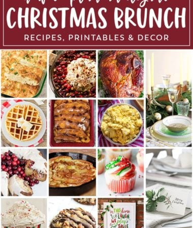 Easy Christmas Meal Plan ~ Everything You Need to Plan Your Christmas Menu! How to Make Easy Recipes, Printables, Tablescapes and More!