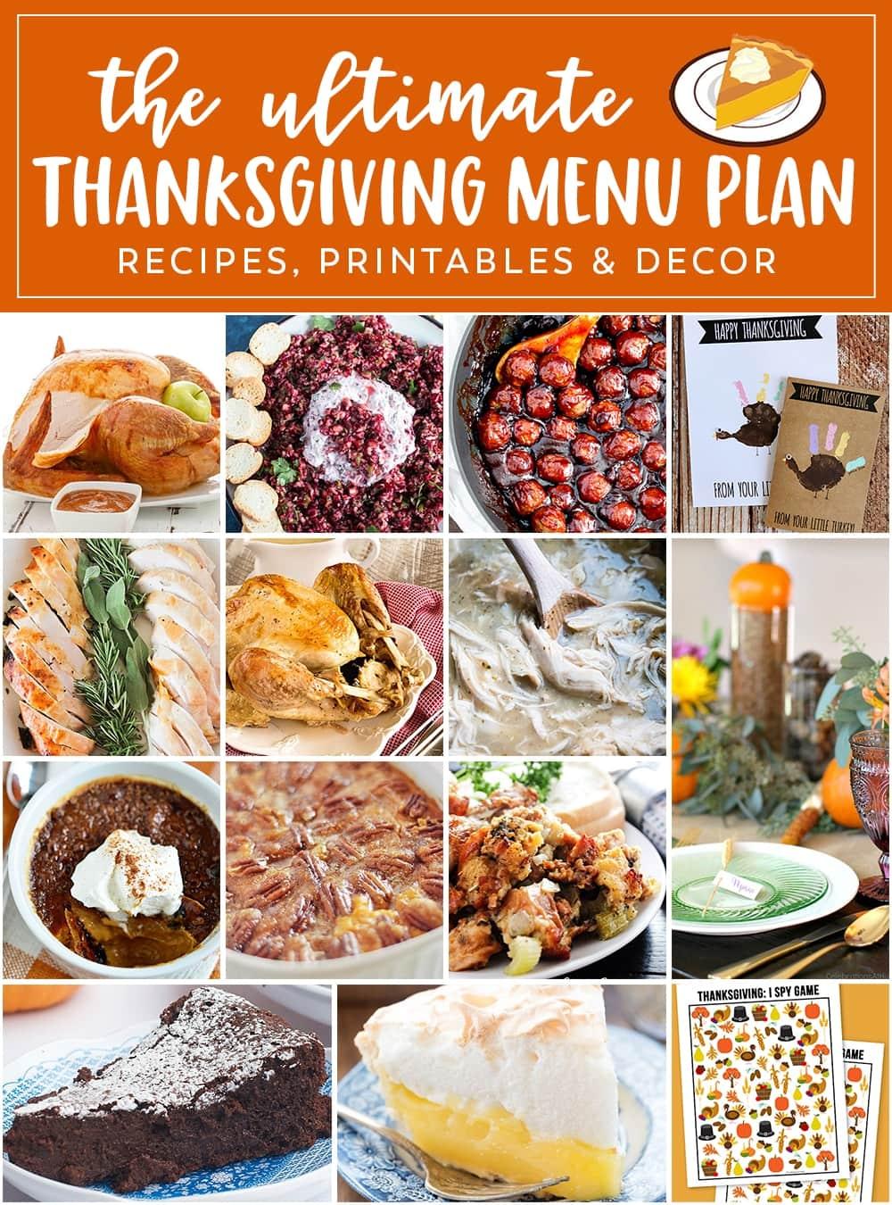 photograph regarding Thanksgiving Menu Planner Printable referred to as Thanksgiving Menu Planner - Julies Eats Snacks ®