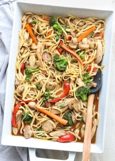 Chicken Vegetable Pasta Stir Fry