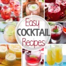 Easy Cocktail Recipes! Tons of Easy Cocktails Anyone Can Make at Home for a Party. Everything from Sangrias, Moscow Mules, Mimosas, Pina Coladas, Margaritas and More!