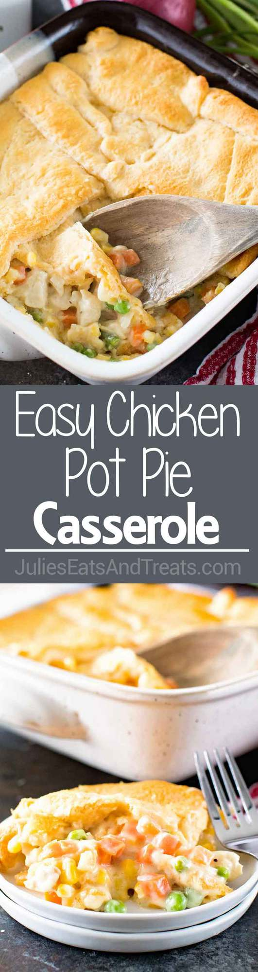 Easy Comfort Food Chicken Pot Pie Casserole Recipe