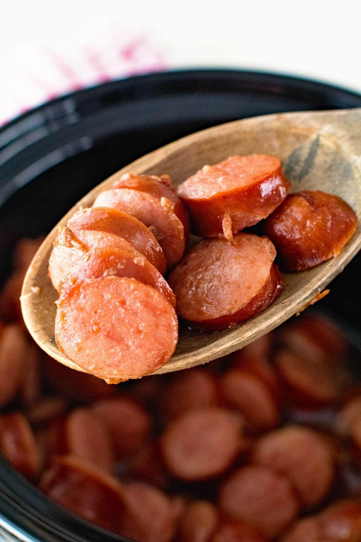 Crock Pot Glazed Kielbasa Bites in Your Slow Cooker