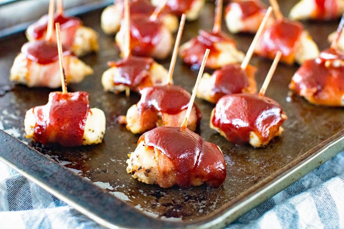 How to make easy bbq bacon chicken bites appetizer