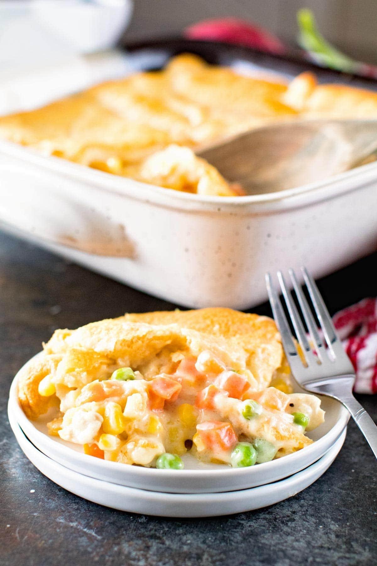 How to Make Chicken Pot pie Casserole