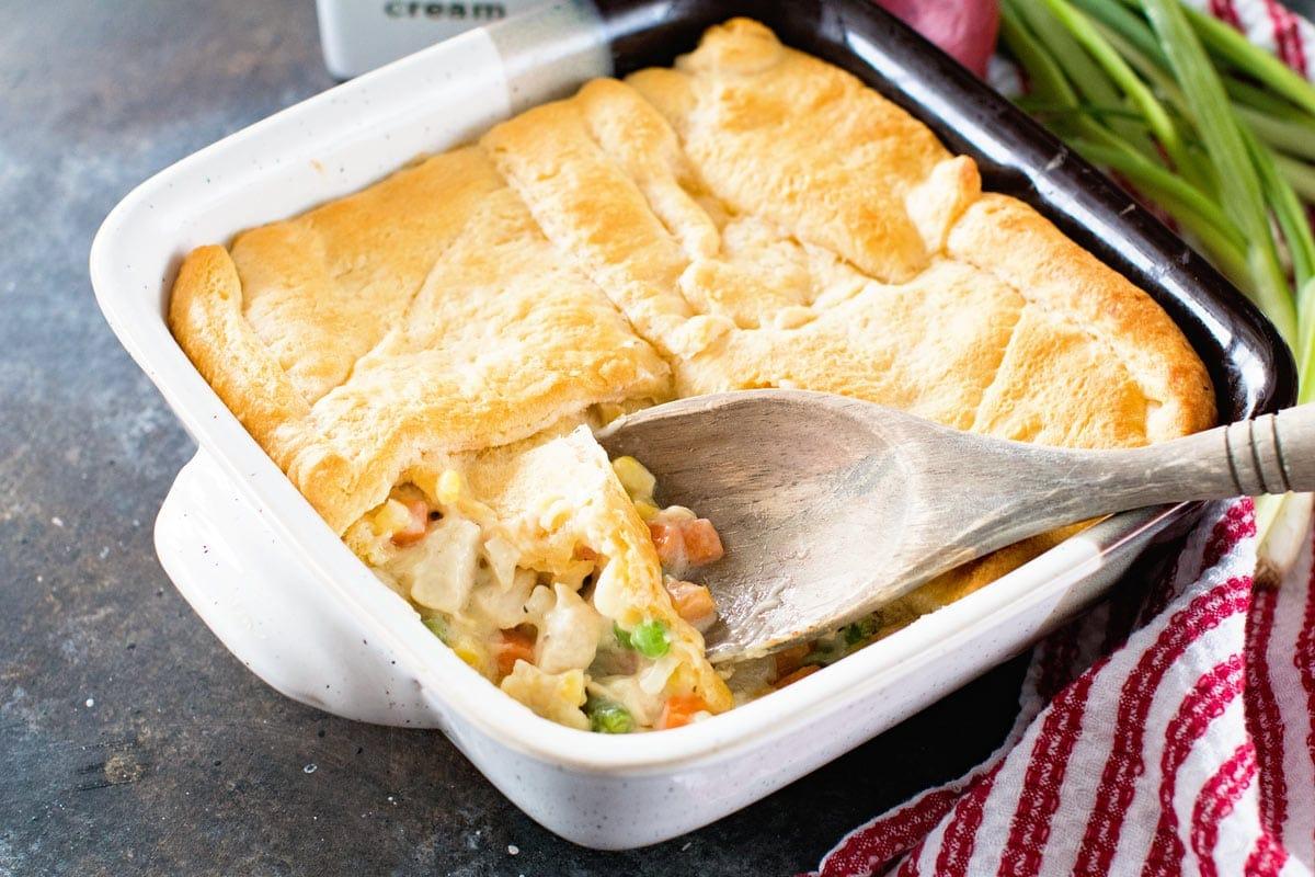 Casserole in baking dish