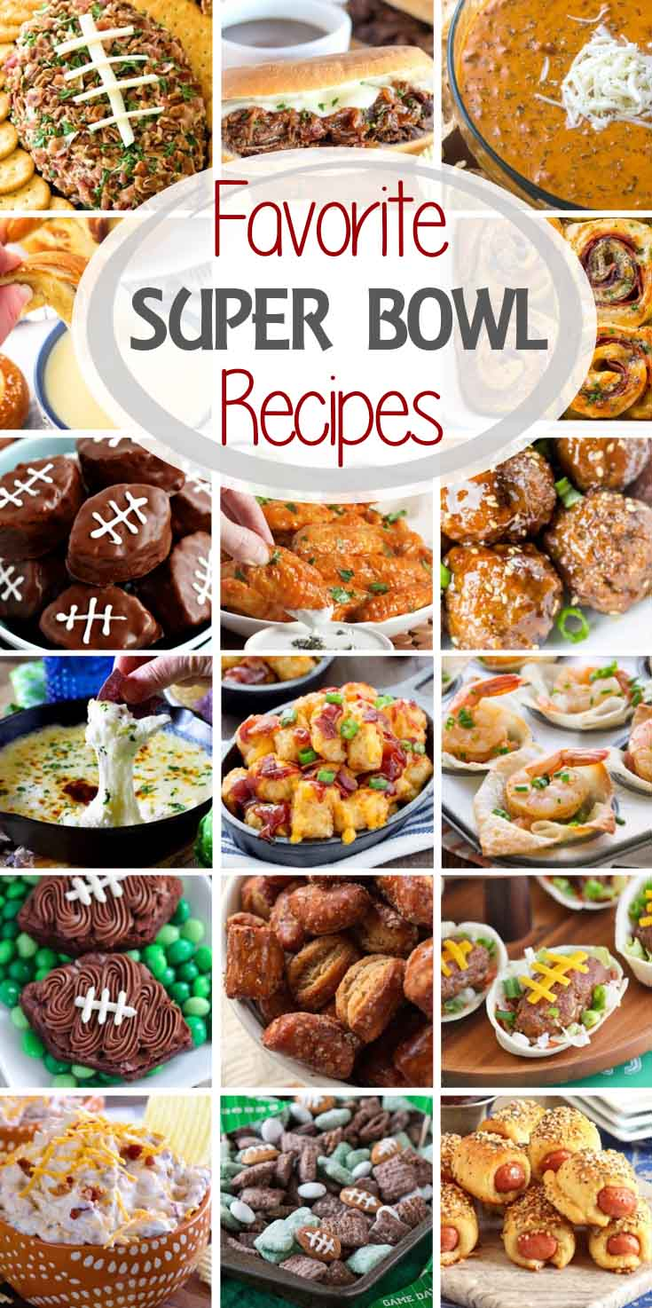 Favorite Super Bowl Recipes ~ Tons of Super Bowl Recipes Ideas from Your Favorite Bloggers! Everything from Dip, to Small Bite Appetizers, Pizza, Crock Pot Recipes and More!