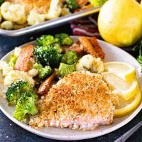 Delicious and Easy Dinner of Lemon Salmon and Vegetables
