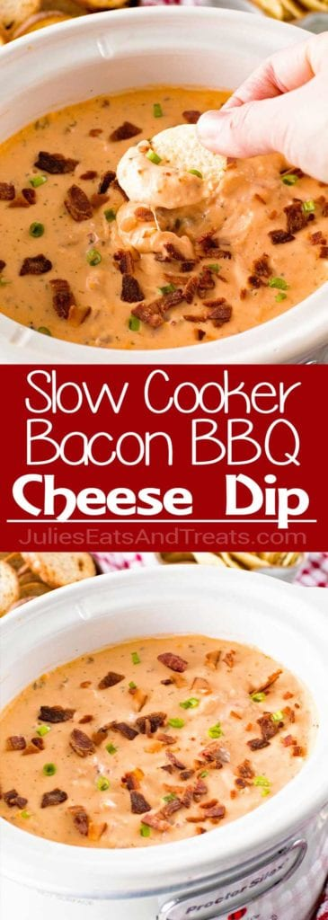 How to make Slow Cooker Bacon Cheesy BBQ Chicken Dip!