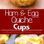 Cheesy Ham Egg Quiche Cups Collage