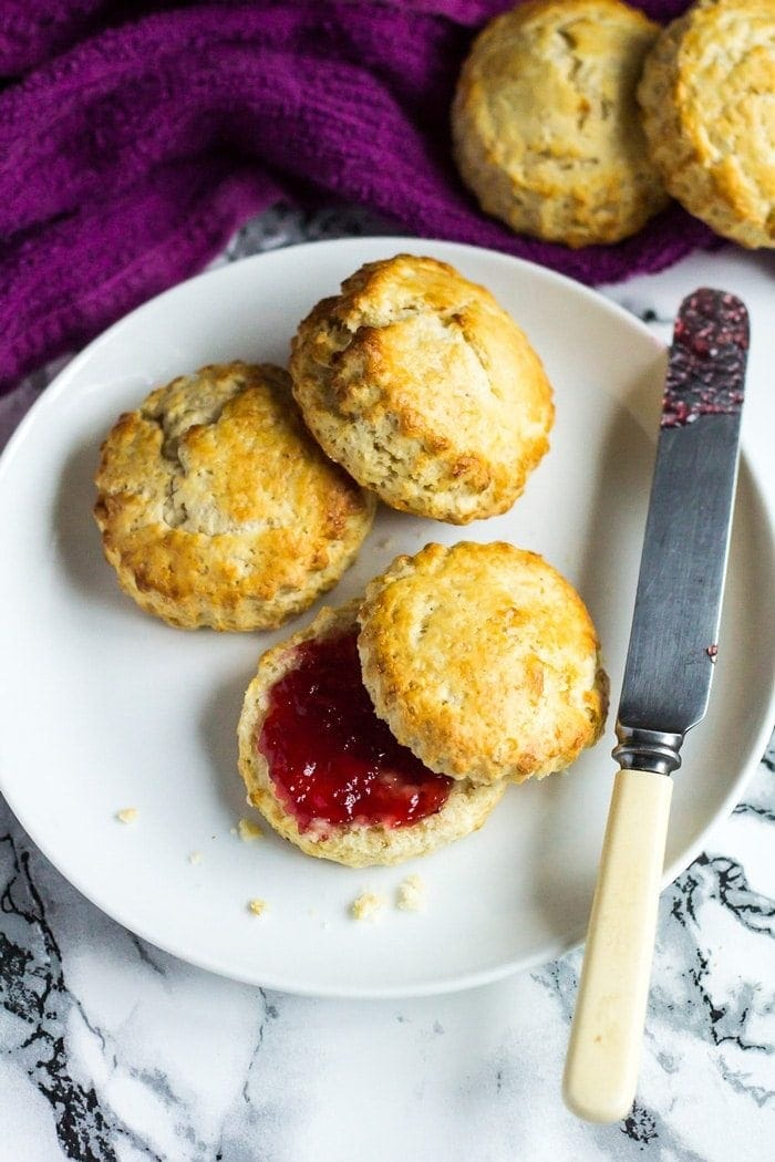 Classic English Scones - These deliciously fluffy scones are perfect served warm or cold with clotted cream and jam. Pair with your morning cup of tea for an indulgent breakfast!