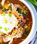 Chicken Taco Soup Overhead