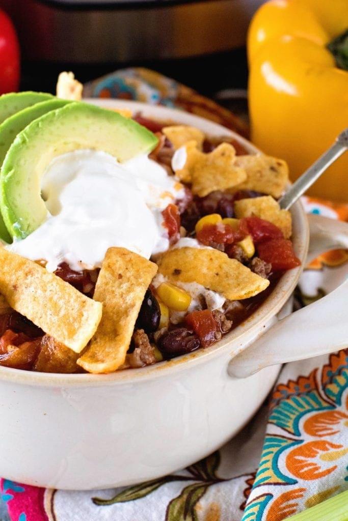 Taco Soup Recipe Bowl