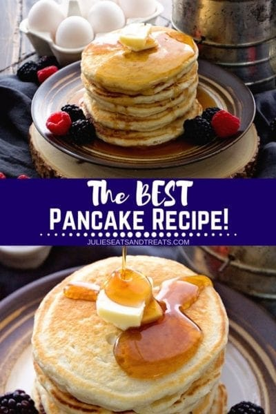 Pancake Recipe Pinterest Image