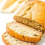 Banana Bread Recipe sliced