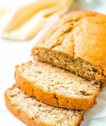 Banana Bread Recipe sliced