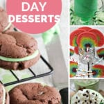 St patricks day dessert pinterest collage