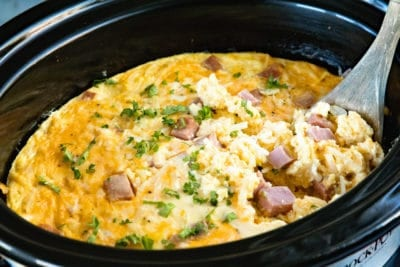 Crock Pot with Breakfast Casserole