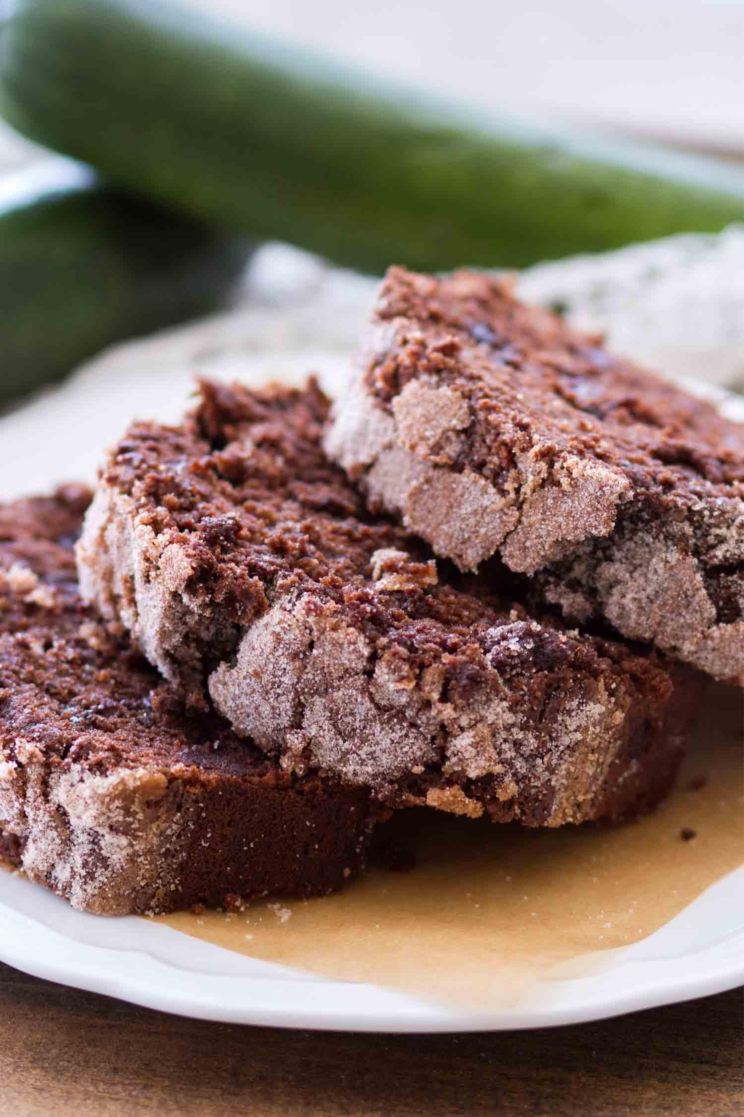 slices chocolate zucchini bread