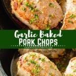 Baked Pork chops Pinterest Image