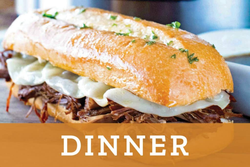 Dinner Overlay over French Dip