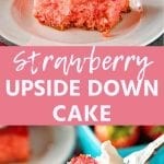 Pin Image for Strawberry Upside Down Cake