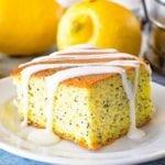 Poppy seed cake piece