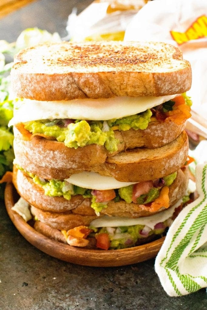 Southwestern Breakfast Sandwich on plate