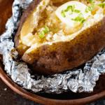 slow cooker baked potato pinterest image