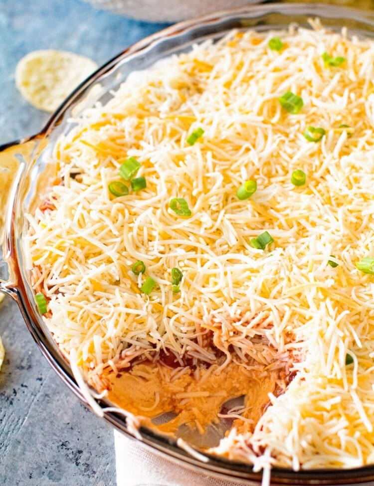 Layered Taco Dip in Pie Plate