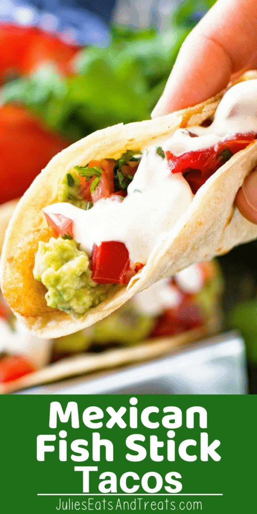 Mexican Fish Stick Taco in hand