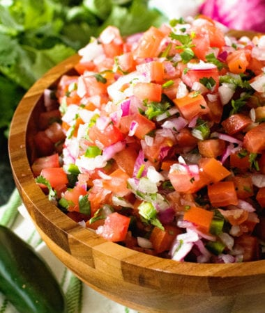 Pico de Gallo in Brown bowl