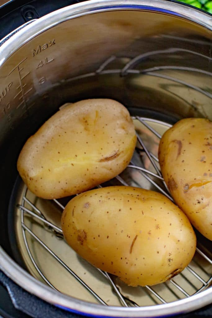 Baked Potatoes inside of Instant Pot