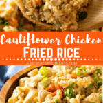 Cauliflower Fried Rice Pinterest image