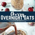 Cherry Overnight Oats Pinterest