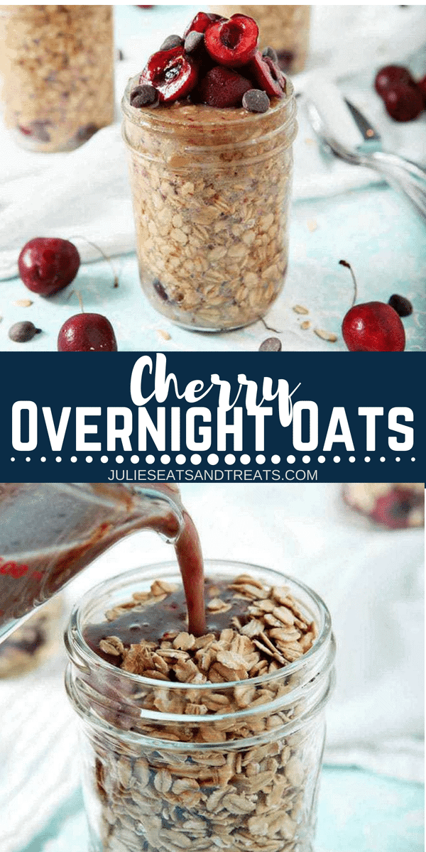 Cherry Overnight Oats Pinterest