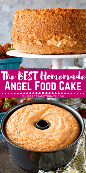 Homemade Angel Food Cake Pinterest Image