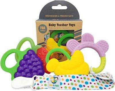 Ike and Leo Teething Toys Stocking Stuffers
