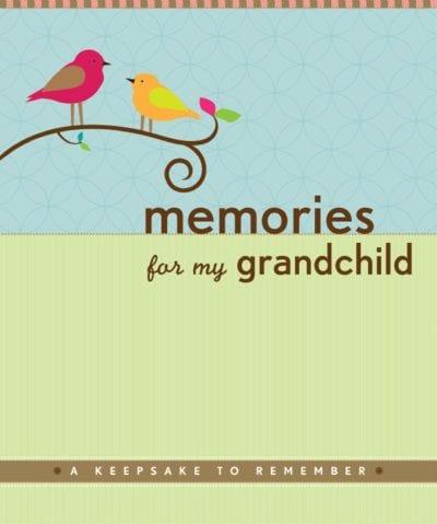 Memories For My Grandchild Keepsake Book Gifts for Grandma