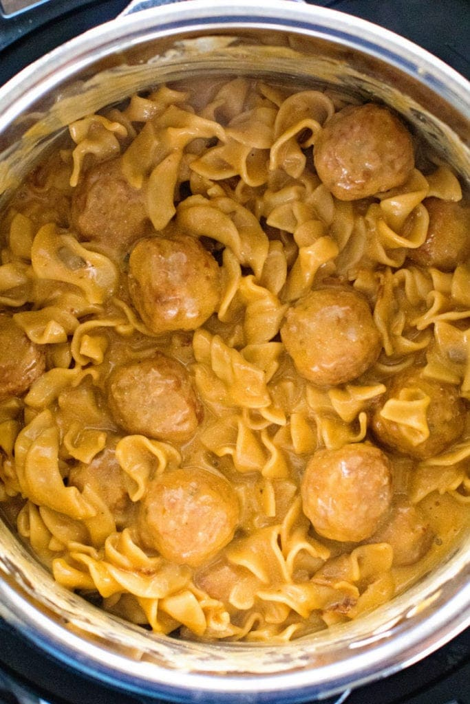 Easy Swedish Meatball Recipe in Pressure Cooker